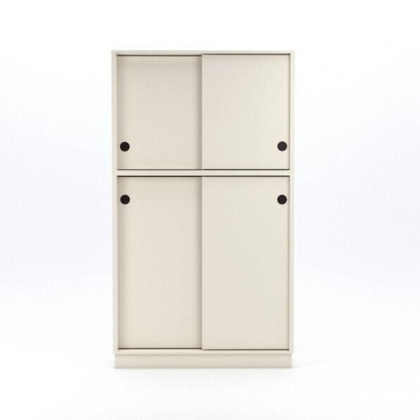 ארון לבן 4 דלתות הזזה למשרד