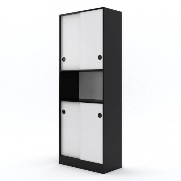 ארון 4 דלתות הזזה עם פתח אחסון באמצע