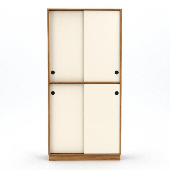 ארון 4 דלתות חלוקה שווה למשרד