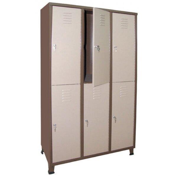 ארונות מתכת למשרד 6 דלתות בחלוקה שווה