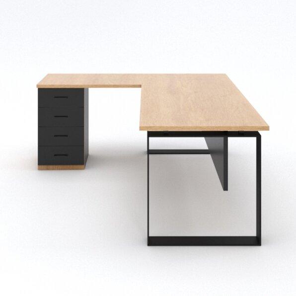 שולחן למשרד +פלטת שולחן ומגירות