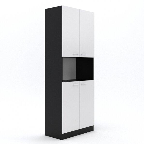 ארון למשרד 4 דלתות פתיחה עם פתח אחסון באמצע