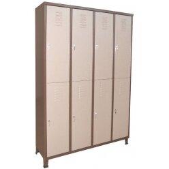 ארון מתכת 8 דלתות בחלוקה שווה