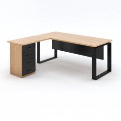 שולחן משרדי + שלוחה ומגירות
